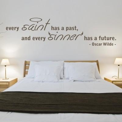 Adesivo murale oscar wilde sinner stickers murali - Adesivi per pareti camera da letto ...