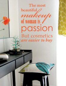 adesivo murale frase passion