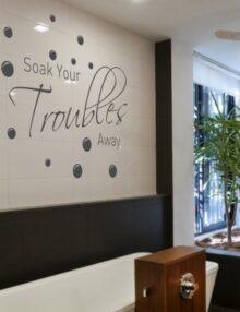 adesivo murale frase soak troubles