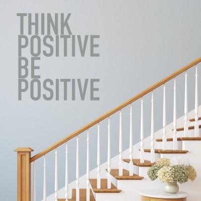 Adesivo murale think positive stickers murali - Tavole adesive 3d per pareti ...