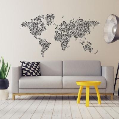 wall stickers con mappe e cartine del mondo stickers murali