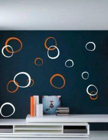 adesivo murale moderni cerchi irregolari