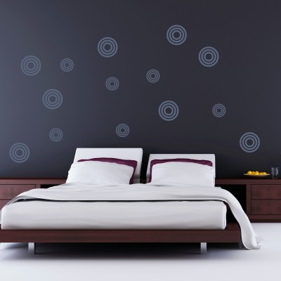 Adesivo murale cerchi fantastici stickers murali - Disegni pareti camere da letto ...