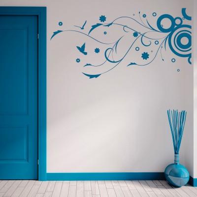 Adesivo murale gioia astratta stickers murali - Fiori in camera da letto ...