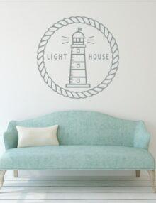 adesivo murale moderni light house