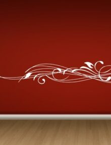adesivo murale moderni linee astratte