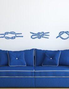 adesivo murale moderni nodo marinaio