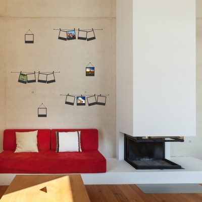 Idee per decorazioni murali con fotografie stickers murali - Portafoto multipli da parete ...