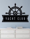 adesivo murale moderni yacht club