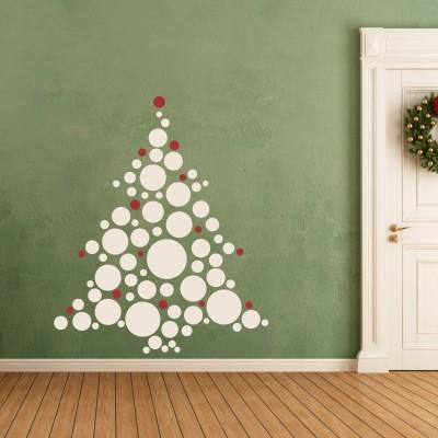 Adesivi Murali Natale.Adesivo Murale Albero Di Natale Con Palline Stickers Murali
