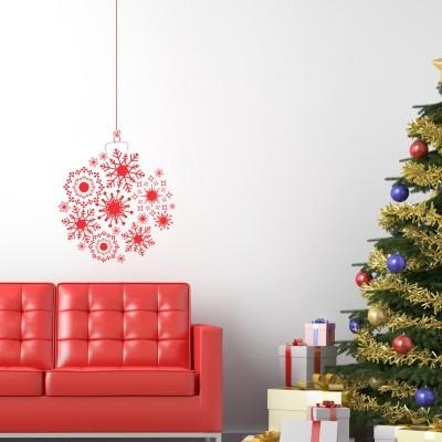 Adesivi Murali Natale.Adesivo Murale Pallina Di Natale Stickers Murali
