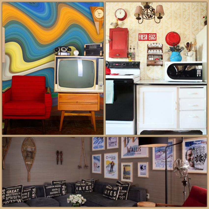 Idee pareti interne cucina pranzo lavanderia vetrata for Idee decorazioni pareti